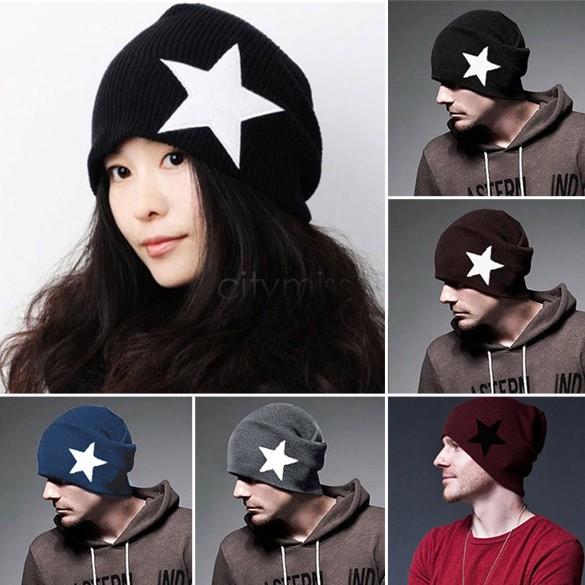 Skull Hat Knitting Pattern Hat Star Pattern Skull Cap