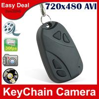 808 Mini Car Key Camera High-Quality 720 x 480AVI 1280x960 Pixels Resolution Keychain Camera 100Pcs/Lot Free DHL
