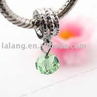 30pcs/lot Green Crystal Screw Thread Pendants Charms Dangle Beads Fit Charm  Necklace 25mm 150169