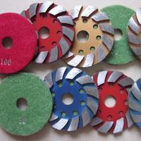 "Metal grinding pads/Wet using/4""/100mm for polishing concrete/diamond polishing pads(Segment=4""/100*7mm,Weight=0.3kgs)"