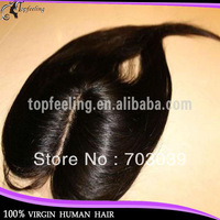 Free shipping Hot sale straight brazilian hair center part size 4''*4'' swiss lace top closure top piece