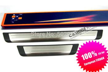 for EUR vw Volkswagen Tiguan door sill stainless steel scuff plate threshold sticker ...