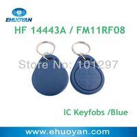 100pcs/lot rfid  Keyfobs 13.56Mhz  ISO 14443A  1K FM11RF08 Blue