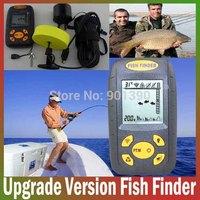 Update Portable Sonar Sensor Fishfinder Big LCD Fish Finder Alarm Fishing equipment  for River Lake Sea Bed Live Free Shipping