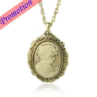 Mix Wholesale  Costume Jewelry Necklace Alloy Cameo Necklace 10pcs/lot