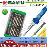 Top Screwdriver,Wide Application 12 tips in 1 Precision Screwdriver set.Necessary Tool Kits.BAKU BK-6312.