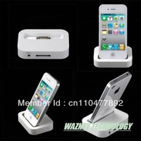 100pcs/lot*Dock Cradle Sync Charger Station for For iPhone 4 4S 3G 3GS*Free shipping*(PE bag packing)