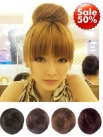 FREE Shipping  1pc/lot Ladie's fashion synthetic hair buns 4 colors