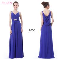 9056 Padded Gorgeous V Neck Diamante Long Evening Dress