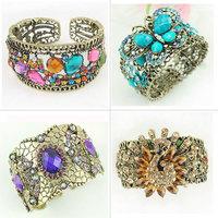 Bangles 4pcs/lot 4 Different Deisgns and 4 Different Colors Fashion Alloy Bangles Bracelets