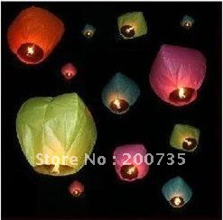 10pcs/ lot Sky Lantern red,pink,yellow,blue 8 colour avaiable Wishing Lamp  CHINESE LANTERNS BIRTHDAY WEDDING PARTY  SKY LAMP