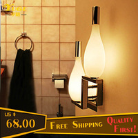 Free LED Bulbs!!! Fashion Wall Lights with Two Glass Flower Vases