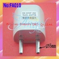 Wholesale UK|US|AU To EU Universal Europe Travel Adapter Plug with Good quality 100pcs/lot #FA010
