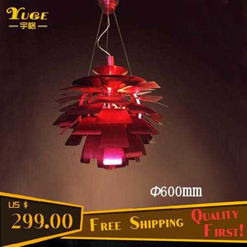 Free Shipping 600MM PH Artichoke Chandelier Pendant Lamp Modern Pendant Lights Fashion Pendant Lighting(China (Mainland))