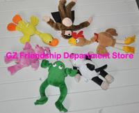 MIX STYLE 5 Pcs/Lot  Flying Screaming Monkey Plush Toys SLINGSHOT COW PIG FROG TOYS  ePacket Free Shipping