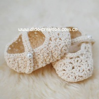 DD07007 Handmade Crochet Baby kids new Shoes footwear unisex for babies