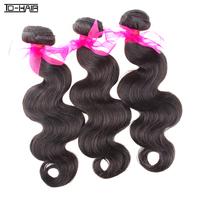 "top 6A Virgin brazilian hair extensions, body wave 10-26"" natural color 1b#, 3pcs/lot, wholesale hair bundles TD HAIR products"