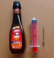 Red 1 Ounce Flavor Marinade Injector W/ 3-inch marinading SS Needle