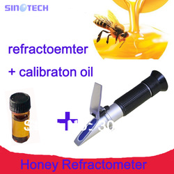 SINOTECH Hand held brix Honey Refractometer brix 58~90% RHB-90ATC refractometer brix(China (Mainland))