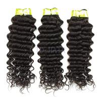 Aliexpress 5A Indian virgin hunam hair deep wave bundles 3pcs lot natural color 1B Unprocessed hair weave TD HAIR