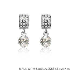 2014 2015 Mother's Day gift! Crystal pendant earrings Made with SWAROVSKI ELEMENTS