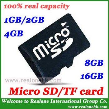 100% real capacity Micro SD card TF memory card 2GB/4GB/8GB/16GB/32GB/64GB free Adapter+mini transparent box