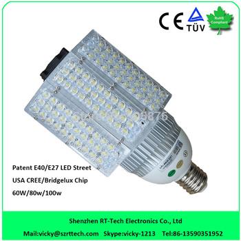 DHL Free Shipping 3 side 60watt led street light E40/E39/E27 /E40 60w led street light replace 250watt halogen light