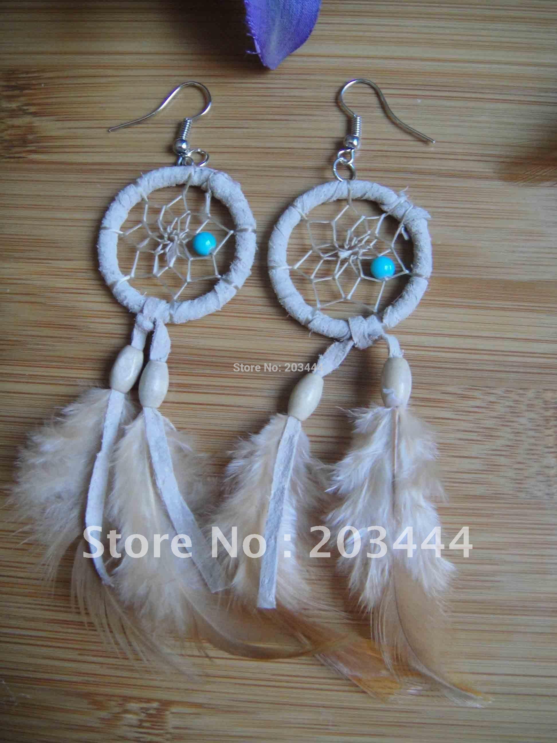 shipping free native american dream catcher earring!!(China (Mainland))