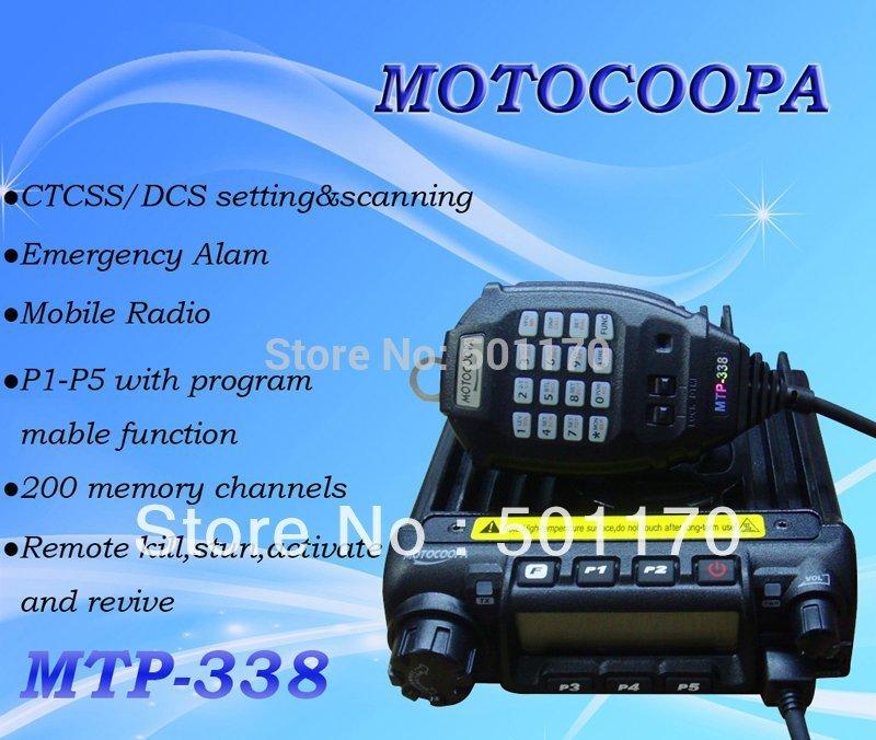 MOTOCOOPA MTP-338 radio FM two way radio 200 momery channels long range walkie talkie(China (Mainland))