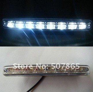 2pcs 8 LED Universal Car Light DRL Daytime Running light fog Lamp KIT Super White free shipping