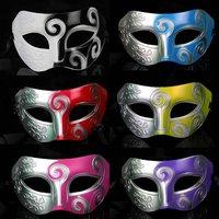 Free ship!!14 pc!!Jazz Mask /pvc Prince Mask /man Mask / hard plastic flat head carved masks/6 color to choice