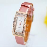 Wholesale women wristwatches ladies rhinestone  fashion leather strap quartz watch Women watches  W988