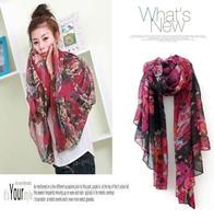 Designer 10pcs/lot 100% cotton voile muslim hijab floral scarf pashmina  korean shawl wrap stole flower wholesale discount