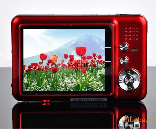 "NEW 12.0 MP 2.7""TFT LCD DIGITAL CAMERA 8X Digital Zoom, Anti-shake, Rechargeable Lithium Battery, Camera Bag, Free Shipping(China (Mainland))"