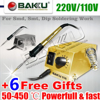 Powerful & Fast Soldering Station,220V/110V. for SMD, SMT, DIP Soldering Work. Long Life Heater.BAKU BK-938.