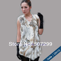 Hot sale 100% rabbit fur vest fur vest free customer logo free shipping