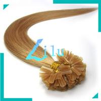 "16""18""20""22"" Pre-Bonded hair U Tip Keratin Glun Nail Tip Hair Extension Silky Straight weaves hair products #27,100s"