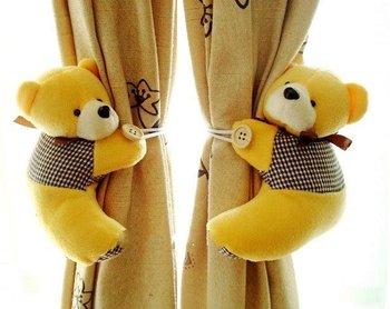 Wholesale Fashion Tieback Window Curtain Hook Litter Bear Curtain Buckle Belt Free Shipping  F122