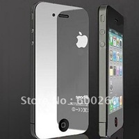 free shipping Mirror Screen Protector for iphone 4 with retail package#8208