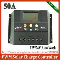 free shipping,50A,12/24V auto,intelligent solar charge controller,PV charge controller,solar system controller