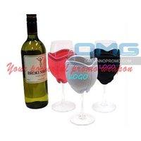 Logo Printing Christmas Holiday 8OZ Wine Glass Sleeve,Christmas Promotional Wine Glass Insulator Holder,Wine Glass Koozie Woozie