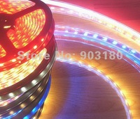 5 m/lot LED hightlight SMD 5050 flex led strip 300LEDS /5m DC12V RGB+controller waterproof Soft light free shipping