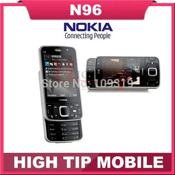 100% unlocked original Nokia Brand N96 phone GSM 3G 16GB internal memory WIFI GPS 5MP,1 year warranty Refurbished Free shipping(China (Mainland))