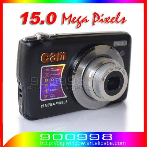 "Цифровая фотокамера 15.0 Mega pixels Digital Camera + 2.7""Screen+ 2 batteries High Quality Cheap cameras"