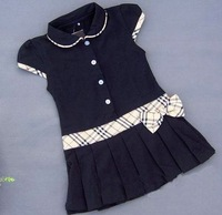 Free Shipping Girls dresses Pleated tennis dress belt girls clothes many color