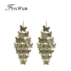 New arrival latest design elegant butterfly design alloy drop earrings(China (Mainland))
