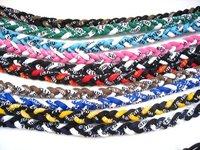 Free shipping 50PCS 3 Ropes Germanium Titanium 3 Ropes Braid Necklaces with Retail Box