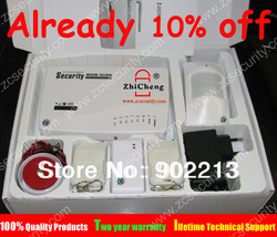 free shipping Intercom wireless GSM alarm system 2 year warranty tri-band 900/1800/1900MHZ supply russian language user manual(China (Mainland))