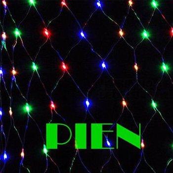 Christmas LED Net Light Multicolor 96 LED Web Fairy Lights 1.5m x 1.5m Led String Xmas decoration+Power plug Free Ship 6set/lot