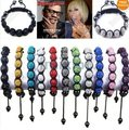 Wholesale 7 Crystal Disco Ball Beads Fit Charm Shamballa Bracelet 11pcs/lot Mixed color Fashion Bangle Jewelry [SB7 M*11]